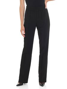 MSGM - Black trousers with elastic waistband