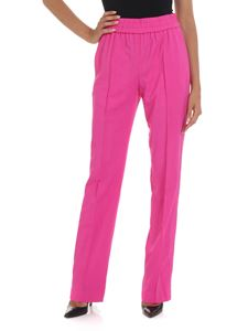 MSGM - Fuchsia trousers with veins