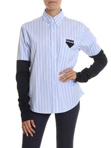 Prada - Striped shirt with contrasting sleeves