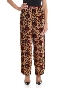 Mes Demoiselles - Multicolor velvet trousers