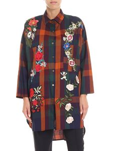 5 Progress - Checked shirt with floral embroidery