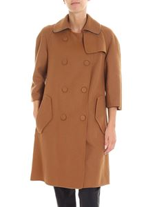 N° 21 - Camel colored unlined coat with strass insert