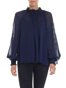 See by Chloé - Blue nude effect blouse