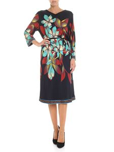 Etro - Long dress with floral embroidery