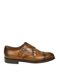 Doucal's - Brown leather Monk Strap