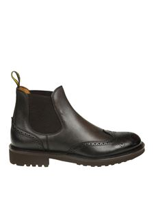 Doucal's - Brown Chelsea boots with stitching