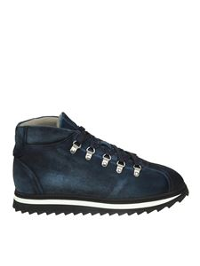 Doucal's - Blue suede sneakers