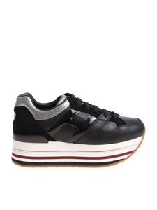 Hogan - H403 black sneakers with silver details