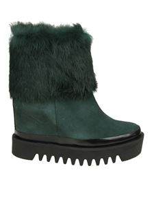 Palomitas by Paloma Barceló - Dark green leather boots