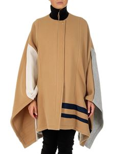 Chloé - Colorblock wool cape