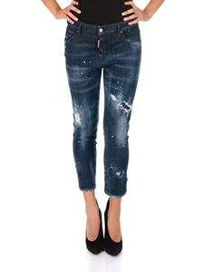 Dsquared2 - Blue Cool Girl Cropped jeans