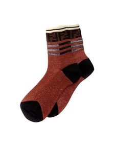 Fendi - Red socks with lurex thread