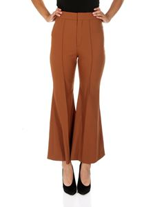 Chloé - Brown stretch wool flare trousers