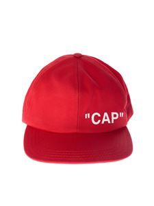 Off-White - Red Quote baseball cap