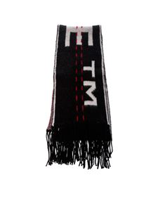 Off-White - Black Knitted Industrial scarf