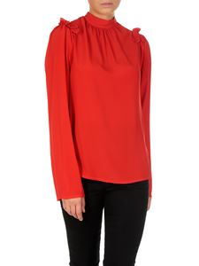 MSGM - Red silk blend blouse
