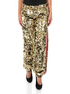 MSGM - Golden sequin trousers