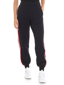 MSGM - Black trousers with logo inlays