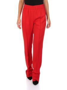 MSGM - Red trousers with elastic waistband