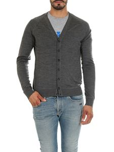 Dsquared2 - Gray melange raglan sleeve cardigan