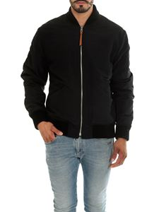 Loewe - Black bomber jacket with logo print