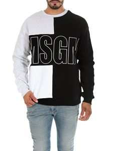 MSGM - Color block cotton sweatshirt