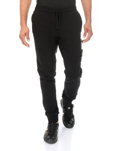 Stone Island - Black cotton sweatpants