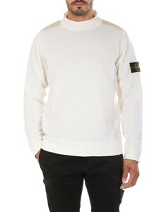 Stone Island - Cream-colored shirt with logo