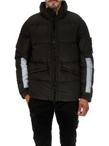 Stone Island - Cotton Metal Watro black down jacket