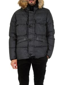 Stone Island - Resin linen black down jacket