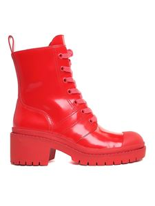 Marc Jacobs  - Red Bristol Combact boots
