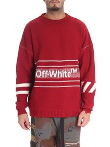 Off-White - Red wool pullover with logo
