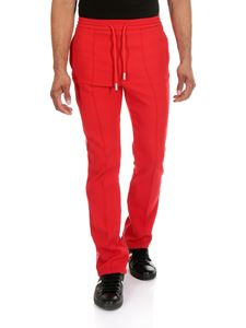 Off-White - Red trousers with veins