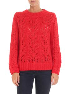 Semicouture - Red hemstitching pullover