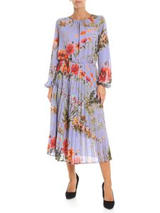 Semicouture - Pleated dress with multicolor floral print