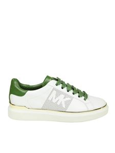 Michael Kors - Max Lace up white and green sneakers