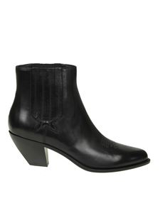 Golden Goose Deluxe Brand - Black leather Sunset ankle boots