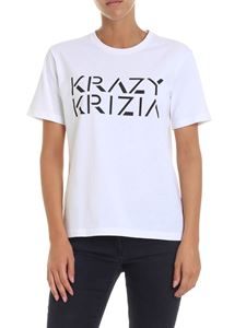 Krizia - White t-shirt with logo print