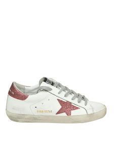 Golden Goose Deluxe Brand - White Superstar sneakers with glittered inserts