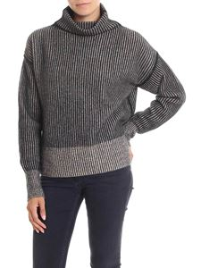 Sportmax - Black and beige wide neck pullover