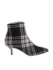 Polly Plume - Janis black and white ankle boots