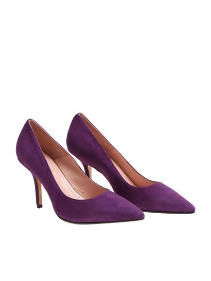 purple purple VIOLA pumps Winter ANNA ANNA 1819 pointy Fall F 7372A P CAMOSCIO zxwzYqIR
