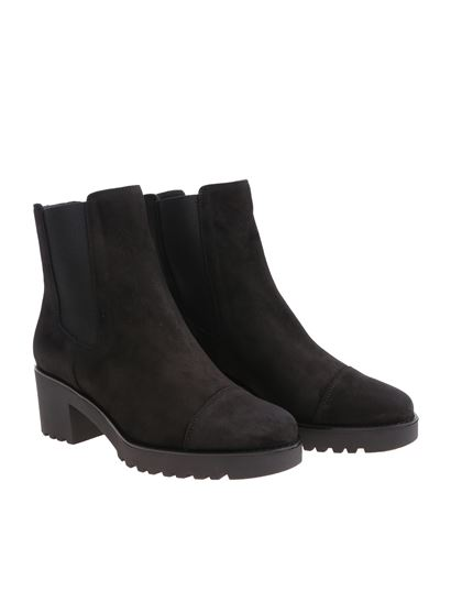 Hogan Fall Winter 18/19 h277 black chelsea ankle boots ...