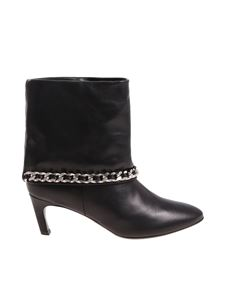 MARC ELLIS - Black ankle boots with turn-ups