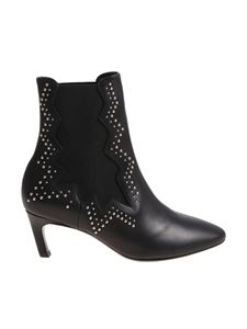 MARC ELLIS - Black ankle boots with studs