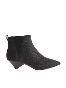 "Ash - ""Cosmos"" black ankle boots with lamé detail"