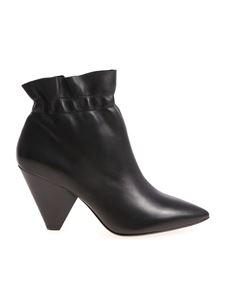 Ash - Dafne black pointed ankle boots