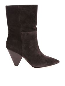 Ash - Doll brown alcantara ankle boots