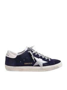 Golden Goose Deluxe Brand - Blue Superstar sneakers with silver star