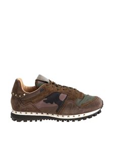 Valentino - Army green camouflage sneakers